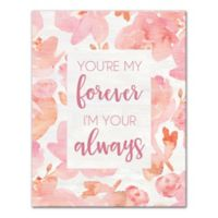 Designs Direct My Forever 11-Inch x 14-Inch Canvas Wall Art