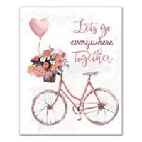 Designs Direct Let's Go Everywhere 16-Inch x 20-Inch Canvas Wall Art