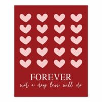 Designs Direct Forever Not A Day 8-Inch x 10-Inch Canvas Wall Art