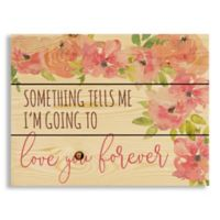 Designs Direct Love You Forever 10.69-Inch x 14-Inch Wood Wall Art
