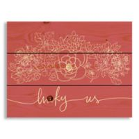 Designs Direct Lucky Us 10.69-Inch x 14-Inch Wood Wall Art