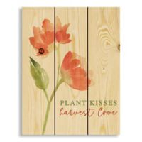 Designs Direct Plant Kisses 10.69-Inch x 14-Inch Wood Wall Art