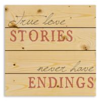 Designs Direct True Love Stories 14.2-Inch Square Wood Wall Art