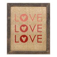 Designs Direct Love Print Wood Art