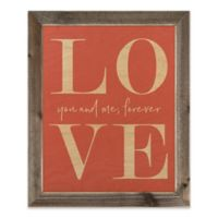 Designs Direct Love You and Me Forever Wood Art