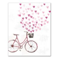 Designs Direct Bike With Hearts Canvas Wall Art