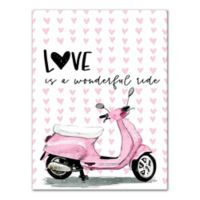 Designs Direct Love Wonderful Ride 12-Inch x 16-Inch Canvas Wall Art