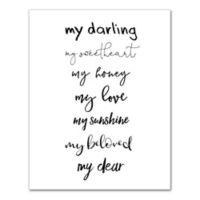 Designs Direct My Darling 11-Inch x 14-Inch Canvas Wall Art
