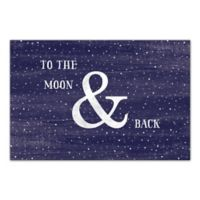 Designs Direct 24-Inch x 16-Inch To The Moon and Back Canvas Print Wall Art