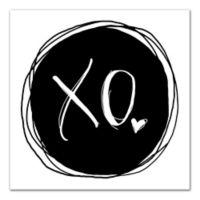 Designs Direct XO 12-Inch Square Canvas Wall Art