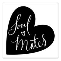 """Designs Direct 12-Inch x 12-Inch """"Soul Mates"""" Canvas Wall Art"""