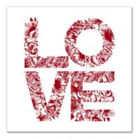 """Designs Direct 16-Inch x 16-Inch Floral """"Love"""" Canvas Wall Art"""