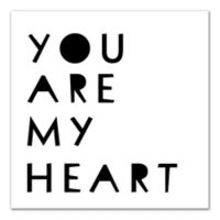"Designs Direct 16-Inch x 16-Inch ""You Are My Heart"" Canvas Wall Art"