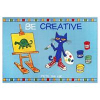 "Pete The Cat ""Be Creative"" 2'11 x 4'3 Non-Skid Accent Rug"
