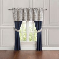 Miramar 84-Inch Rocket Pocket Window Curtain Panel Pair in Navy
