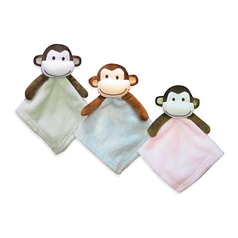 Pem America Monkey Coral Fleece Security Blanket Buybuy Baby