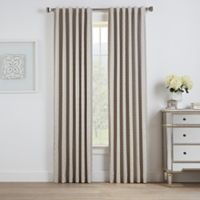 Oslo Jacquard 108-Inch Rod Pocket/Back Tab 100% Blackout Window Curtain Panel in Natural