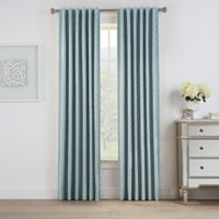 Oslo Jacquard 84-Inch Rod Pocket/Back Tab 100% Blackout Window Curtain Panel in Spa