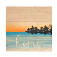 Sweet Bird & Co. Sunset Home 12-Inch Square Wood Wall Art