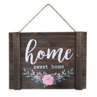 "Sweet Bird & Co. ""Home Sweet Home"" 11.6-Inch x 8.6-Inch Wood Wall Art"
