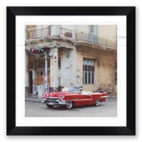 "Vintage Car 27.5"" Square Paper Framed Print Wall Art"