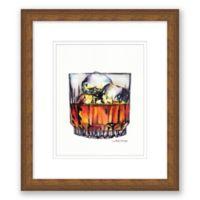 "Scotch on the Rocks 10"" x 11.5"" Framed Wall Art"