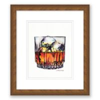"Scotch on the Rocks 13.5"" x 15.5"" Framed Wall Art"