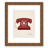"Vintage Telephone 10"" x 11.5"" Framed Wall Art"