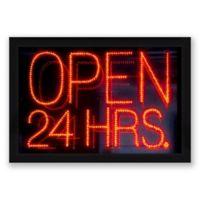 Neon Sign 19.5-Inch x 13.5-Inch Framed Wall Art