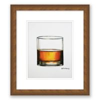 Whiskey Neat 10-Inch x 11.5-Inch Framed Wall Art