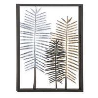 Uma Leaves 33-Inch x 25-Inch Metal Framed Wall Art