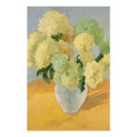 Masterpiece Art Gallery Hydrangea on Gold 24-Inch x 36-Inch Canvas Wall Art