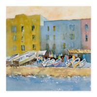Masterpiece Art Gallery Capri Harbor I 24-Inch x 24-Inch Canvas Wall Art