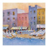 Masterpiece Art Gallery Capri Harbor II 35-Inch x 35-Inch Canvas Wall Art