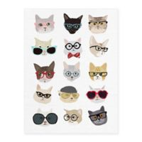 Masterpiece Art Gallery Cats with Glasses 18-Inch x 24-Inch Canvas Wall Art