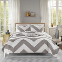 Mi Zone Libra King/California King 4-Piece Coverlet Set in Grey