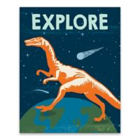 "Lot26 Studio ""Explore"" Dinosaurs 16-Inch x 20-Inch Wrapped Canvas"