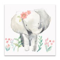 Pi Studio Elephant 14-Inch Square Wrapped Canvas