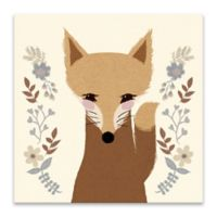 Lot26 Studio Sweet Fox 18-Inch Square Wrapped Canvas Wall Art