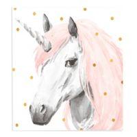Lot26 Studio Unicorn 18-Inch Square Wrapped Canvas