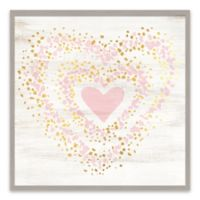 Lot26 Studio Speckled Gold Heart 20-Inch Square Wall Art