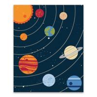 Lot26 Studio Solar System 16-Inch x 20-Inch Wrapped Canvas