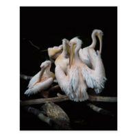 Masterpiece Art Gallery Flock of Flamingos 22-Inch x 28-Inch Canvas Wall Art