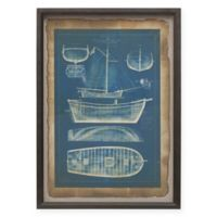 Madison Park Ahoy 20-Inch x 28-Inch Antique Framed Wall Art