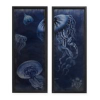 Madison Park Signature™ Jellyfish 2-Panel Framed Wall Art