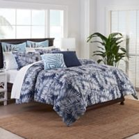 Coastal Life Luxe Shelly Full/Queen Comforter Set in Navy