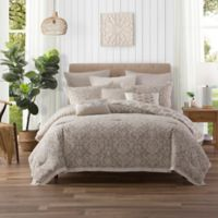 Ellen Tracy Chandler Queen Comforter Set in Beige