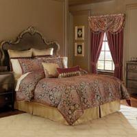 Croscill® Roena Queen Comforter Set in Burgundy