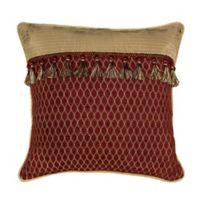 Croscill® Roena European Pillow Sham in Burgundy