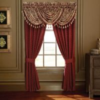 Croscill® Roena 95-Inch Rod Pocket Window Curtain Panel Pair in Burgundy